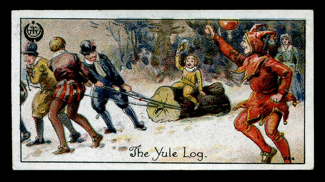 transporting the Yule log