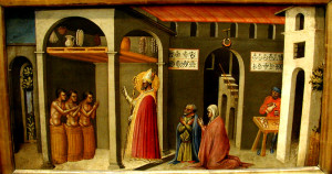 St. Nicholas Resuscitating Three Youths Bicci di Lorenzo