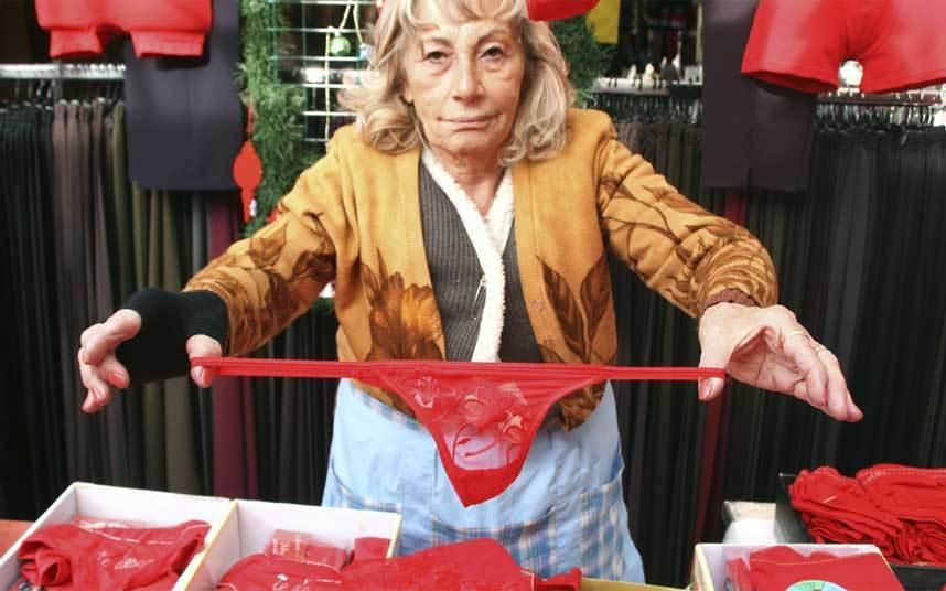 weird new year's red underwear