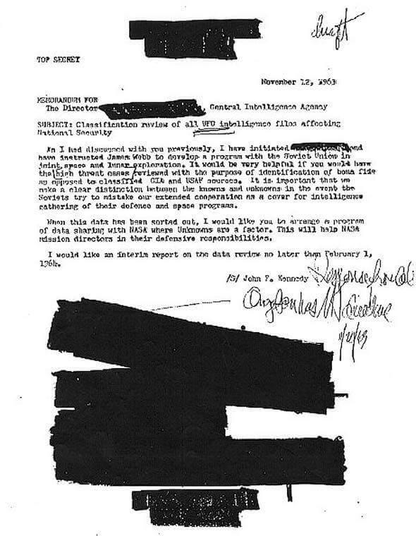 UFOs, JFK, CIA