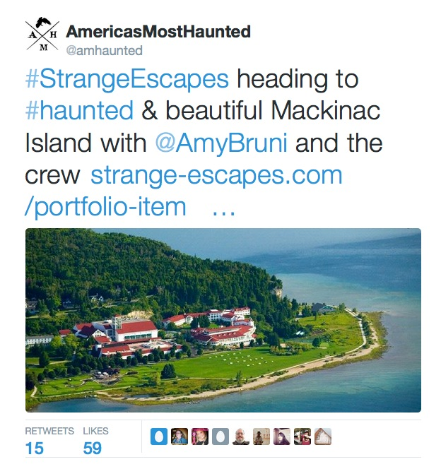 America's Most Haunted January Tweet