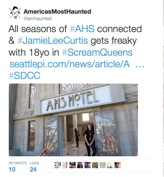 America's Most Haunted July Tweet