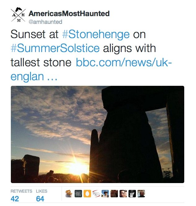 America's Most Haunted June Tweet