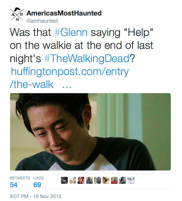 America's Most Haunted November Tweet