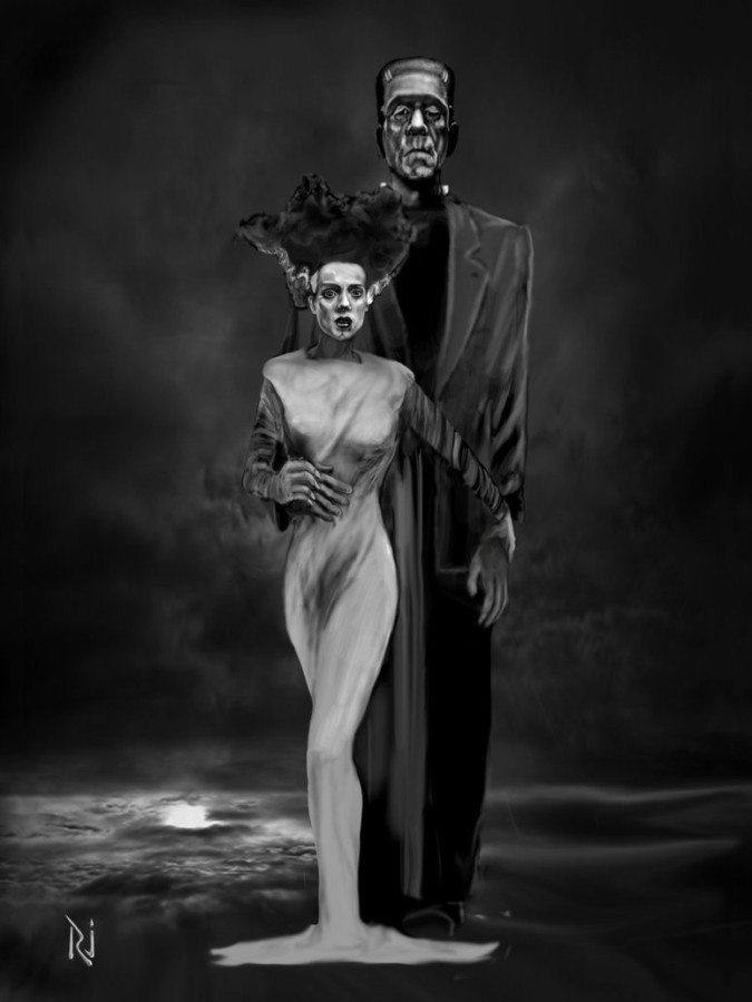 Bride of Frankenstein Halloween Vogue by rjrazar