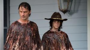 The Walking Dead S6 E8 Rick Carl walker guts