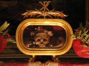 Weird Valentine's Day valentine skull