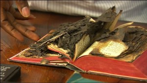 Washington poltergeist burned Bible