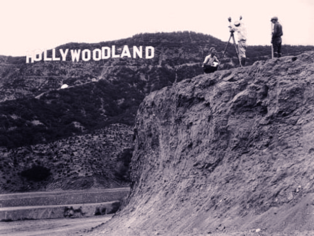 Peg Entwistle Hollywoodland sign
