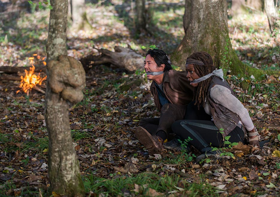 The Walking Dead-episode-615-glenn-michonne