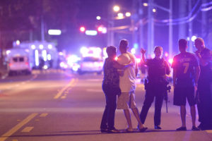 Mass Murderers Orlando, following the shooting [photo by Phelen Ebenhack; Associated Press]