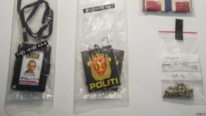 Anders Behring Breivik Fake police ID crafted by Breivik and used in the Utoya attack