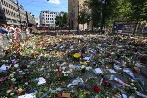Anders Behring Breivik Flowers laid in Oslo for the victims