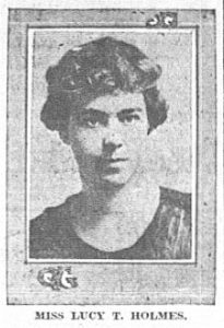 Lucy T. Holmes (Duluth News Tribune April 27,1919)