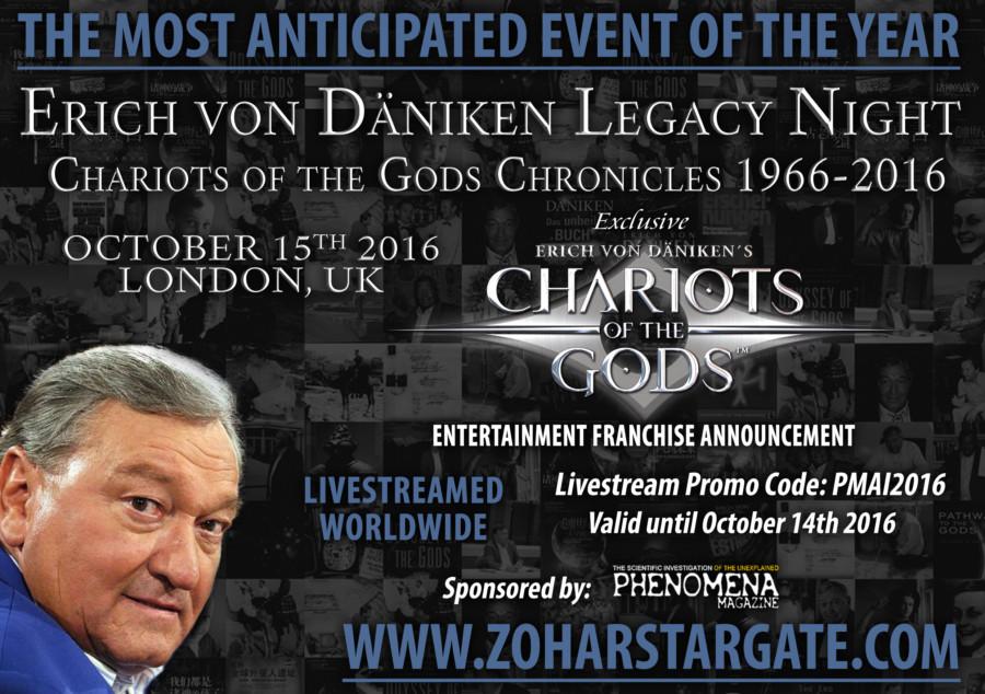 Erich von Däniken Phenomena magazine event promo