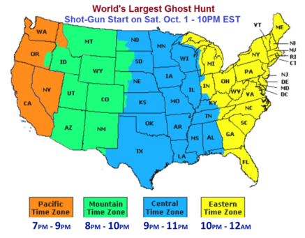 National Ghost Hunting Day map