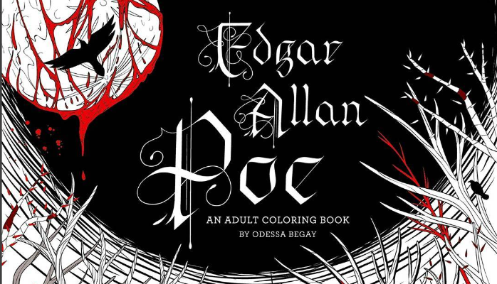 Staying Inside the Lines of EDGAR ALLAN POE: AN ADULT COLORING BOOK by Odessa Begay Eternal torment and crayons