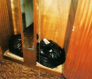 Bags in DEnnis Nilsen's closet that contained human remains