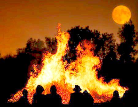 Halloween bonfire