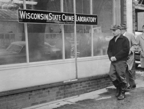 November 20, 195, Madison, Wisconsin --- Ed Gein, owner of Plainfield, Wisconsin farm where butchered body of Mrs. Bernice Worden was discovered hanging in a shed Image by © Bettmann/CORBIS