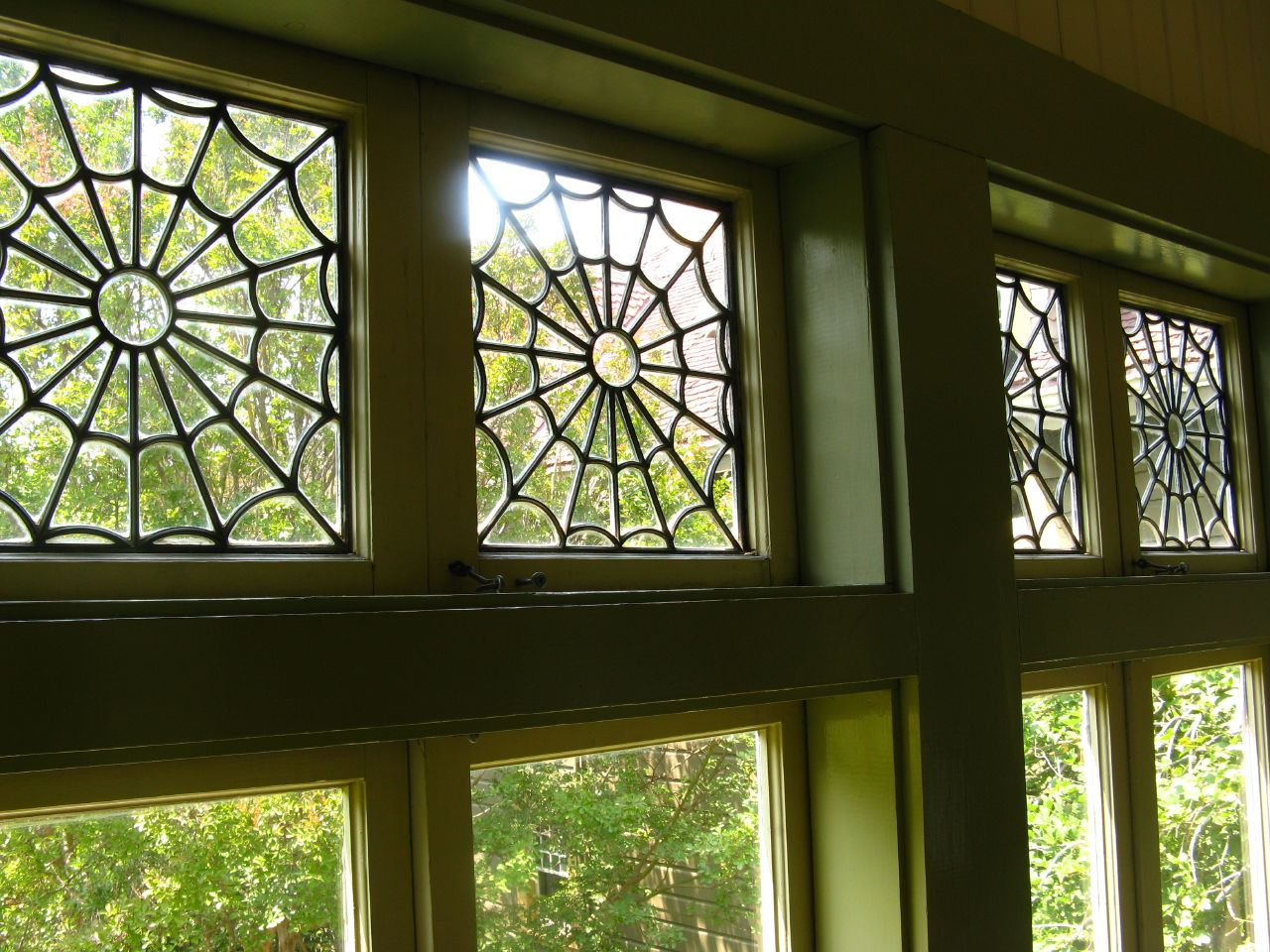 Winchester House spider window