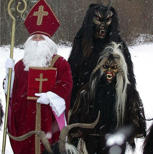 Weird Christmas – St. Nicholas and the Krampus Best buds, the light and the dark, the carrot and the stick