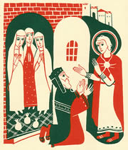 St. Nicholas giving dowry gold (courtesy Elisabeth Ivanovsky)