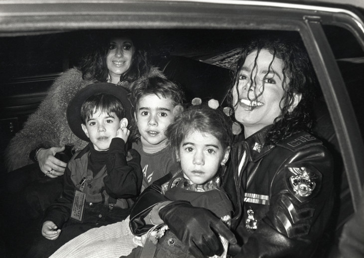 "Singer Michael Jackson and children attend ""Dangerous"" Tour Press"