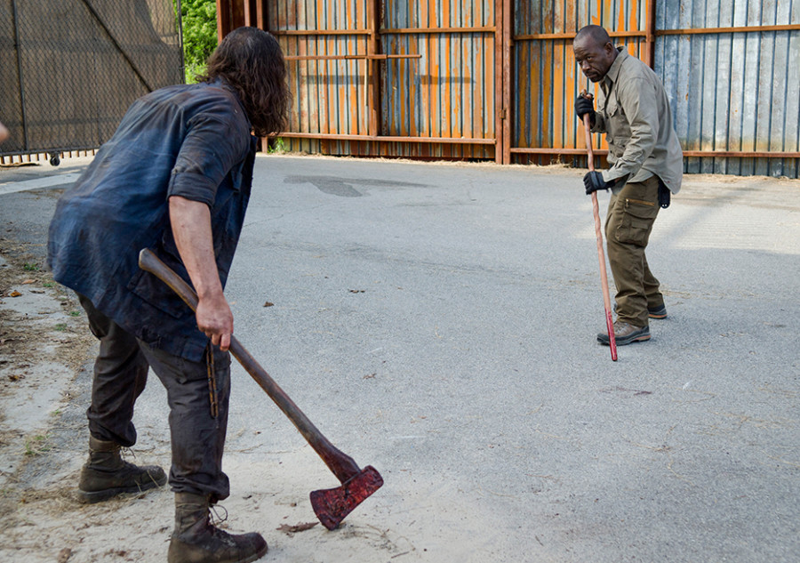 "Wolves Viciously Assault Alexandria on The Walking Dead Carol goes ninja assassin in Episode 602, ""JSS"""