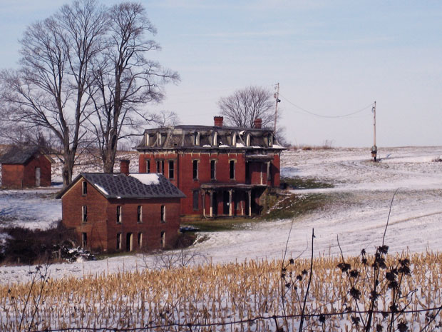Tales of Ohio's Ghostly and Ghastly Mudhouse Mansion On a hill in Lancaster stood a stately brick mansion with a sinister reputation
