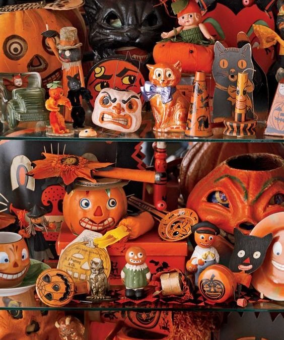 Halloween Symbols – Orange and Black The colors meet at the intersection of life and death