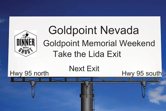 Gold Point NV's Annual Memorial Day Paranormal Weekend with Dinner With a Ghost on After Hours AM/America's Most Haunted Radio John Cushman and Justin Cimock conjure up fine dining and spirits