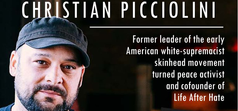 Taking the Inspiring Journey From White Nationalist Hate to Universal Goodwill with Christian Picciolini on After Hours AM/The Criminal Code Picciolini is an award-winning television producer, public speaker, author, peace advocate, and reformed violent extremist