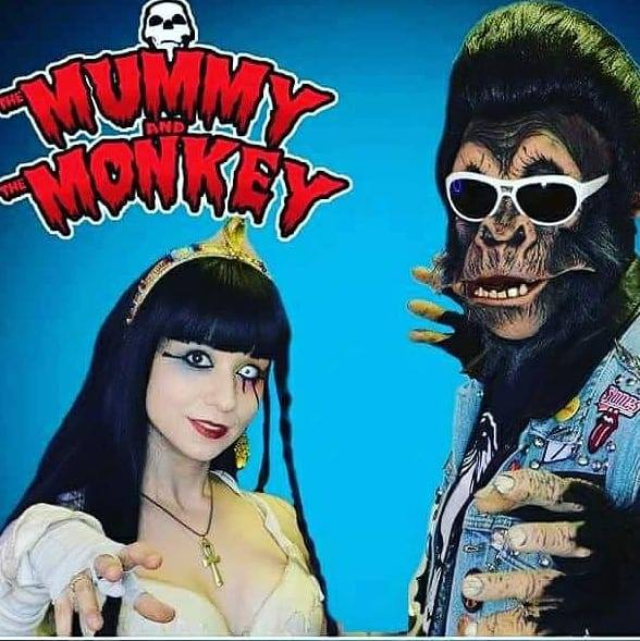 Cavorting with Rising Horror Hosts The Mummy and the Monkey on After Hours AM/America's Most Haunted Radio Carrying on Cleveland's 50 year tradition of making fun of bad movies